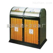 天津铁木垃圾箱