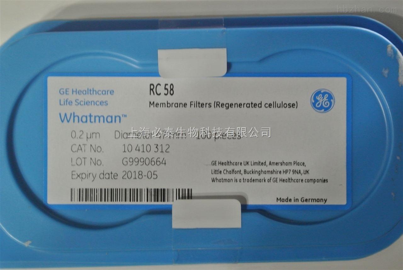 GE Whatman沃特曼 0.2um 47mm再生纤维素膜 RC 58