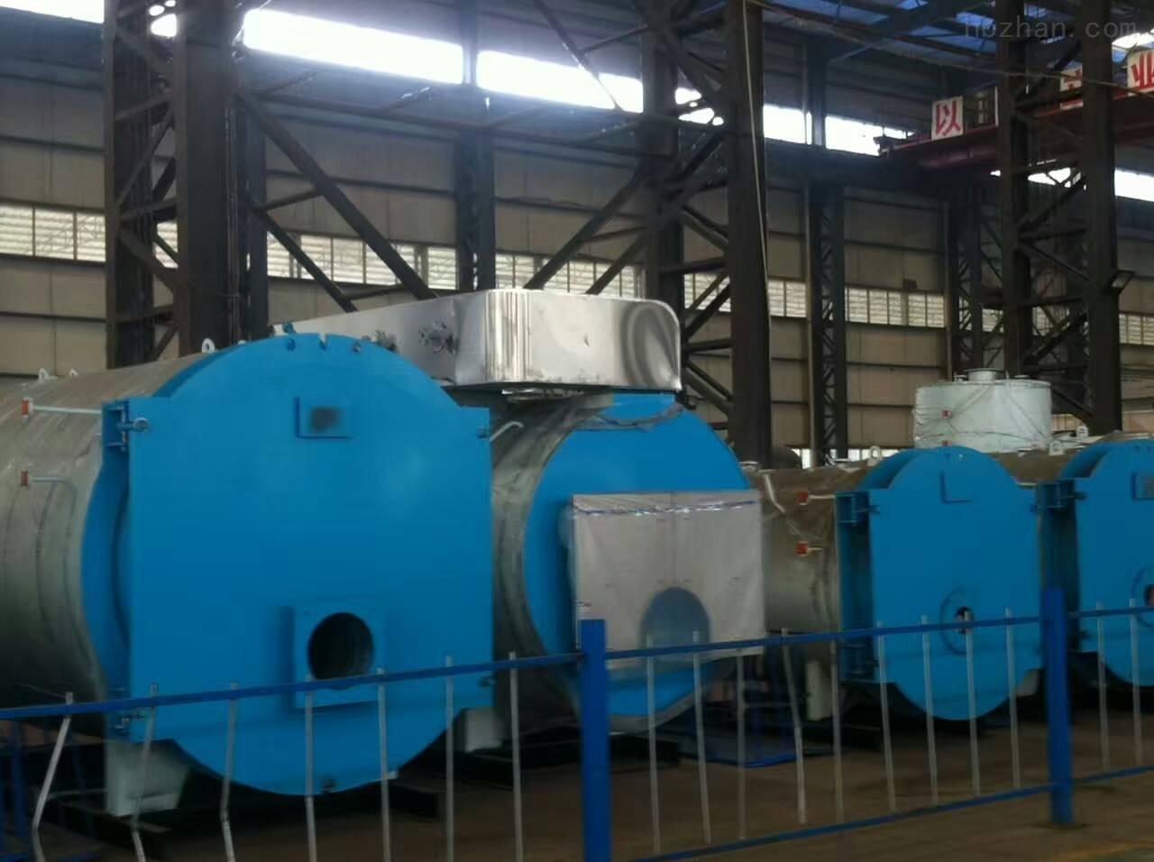 燃气热水锅炉为锅壳式全湿背式烟火管结构