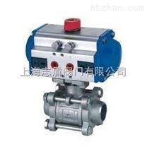 氣動三片式焊接球閥Q661F 不鏽鋼氣動球閥