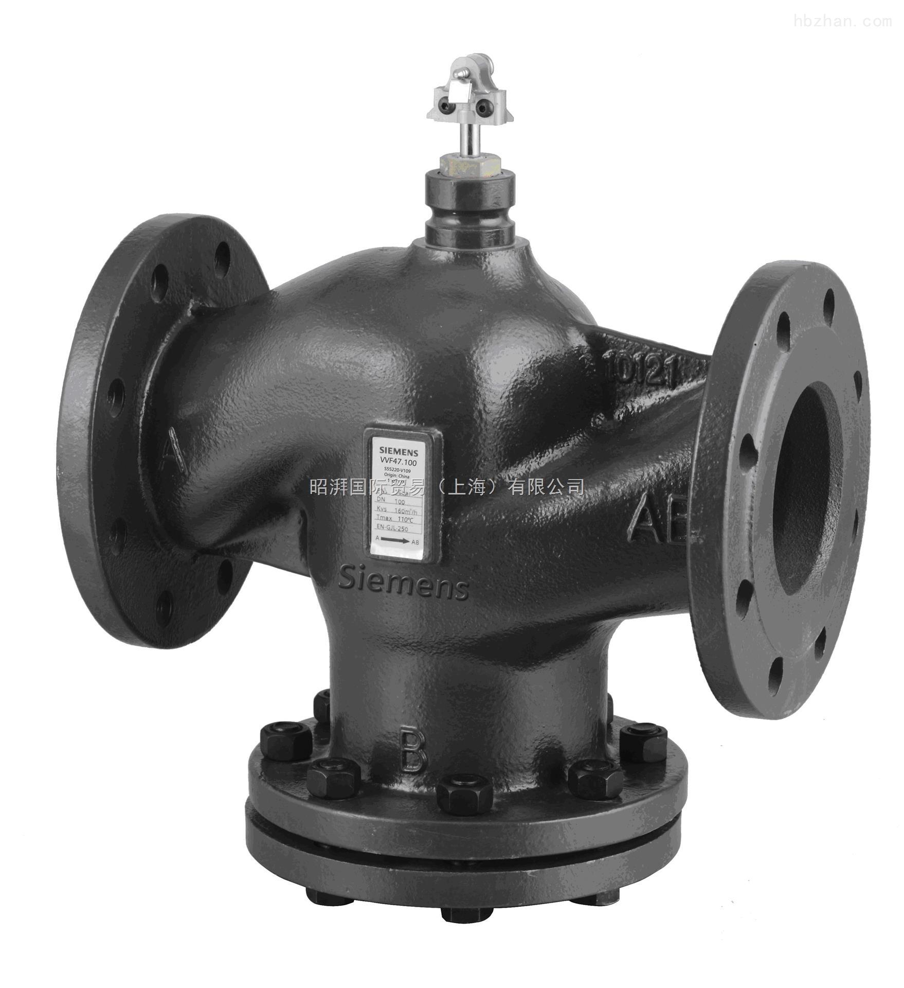 西门子电动调节阀水阀VVF47.80