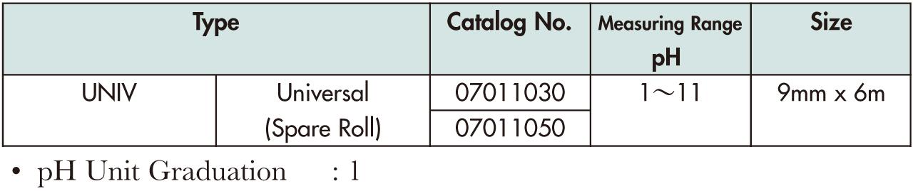 UNIV试纸-Advantec PH试纸(PH范围1.0-11) UNIV试纸-PH试纸