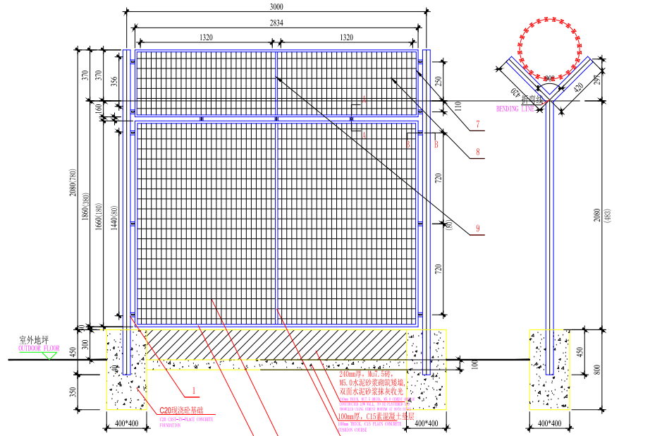 机场围界网设计图纸样