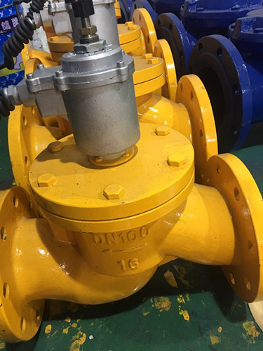 燃气紧急切断阀是燃气管道工程的安全配套装置图片
