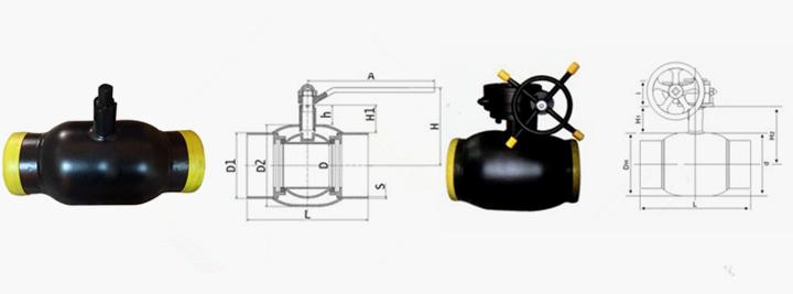 全焊接球阀结构图