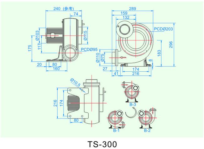低压冷却风机TS-300