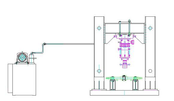 pmw系列 电液式单向动态脉动疲劳试验台生产工业园