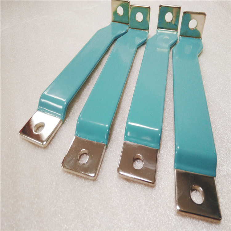 新款蓝色涂层铜排,电池导电连接硬铜排,环氧树脂涂层