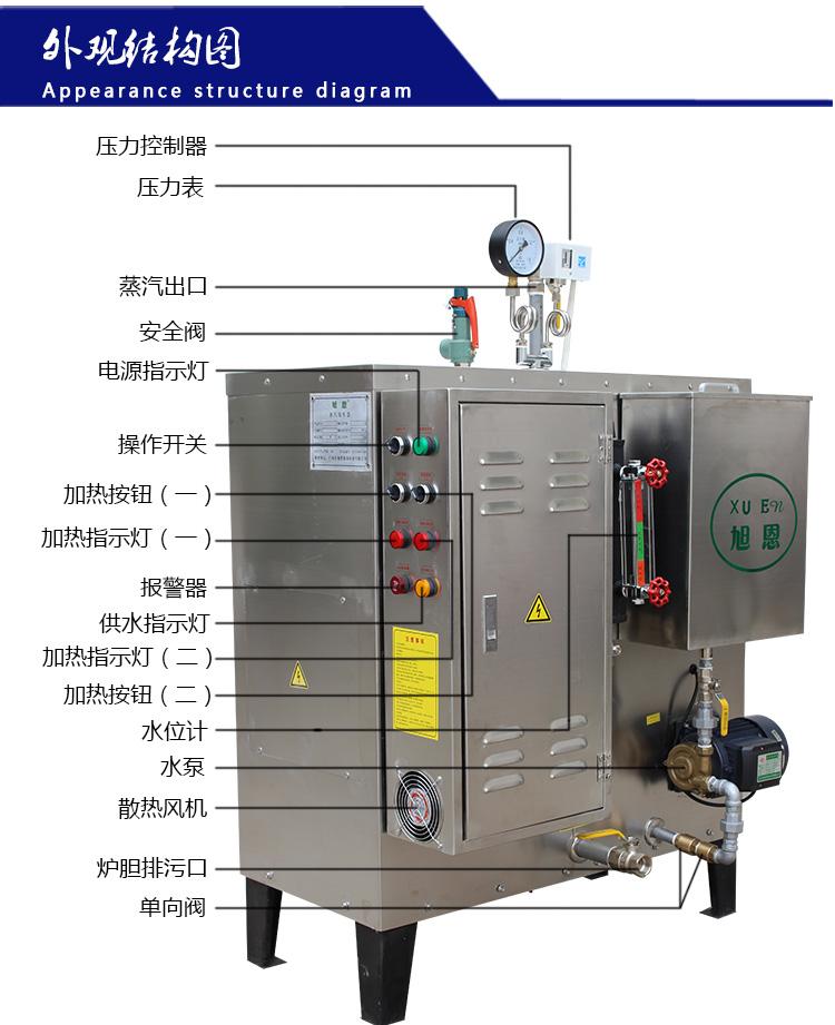 旭恩全自动108kw电加热蒸汽发生器设备_电锅炉,蒸汽器